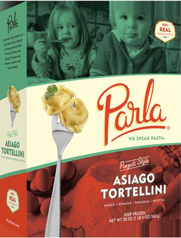 Parla Pasta Asiago Tortellini package