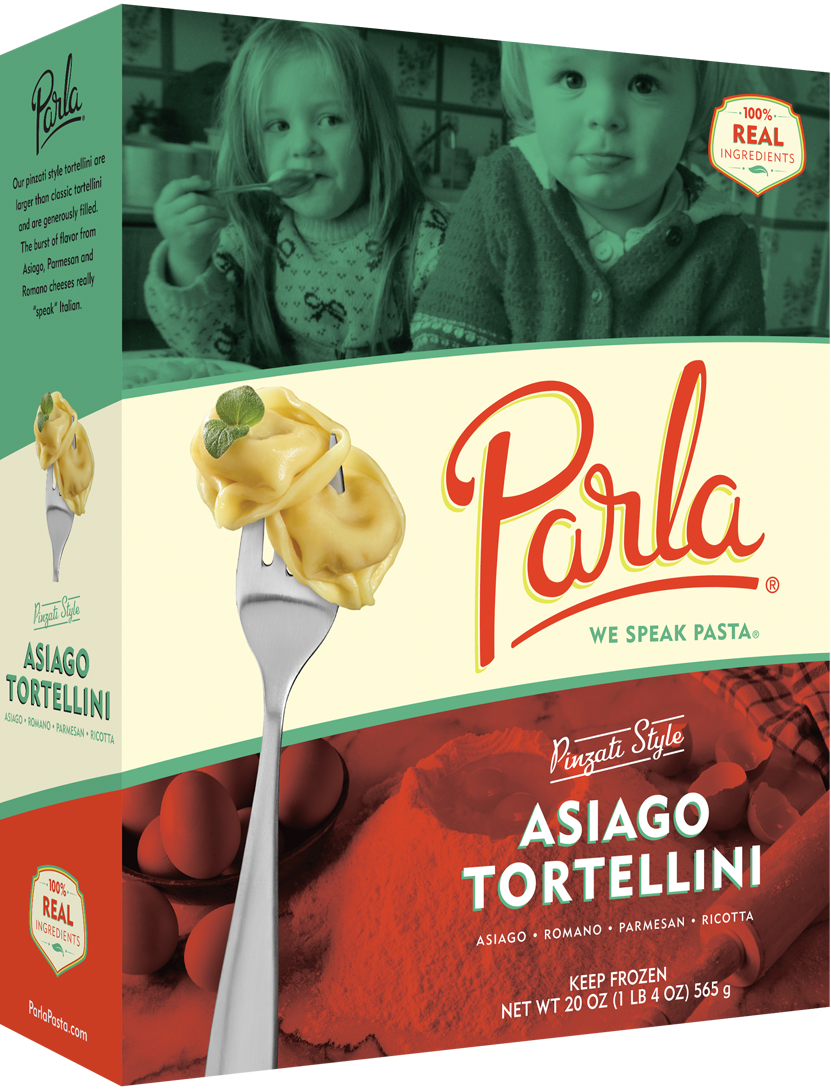 parla Asiago Tortellini product packaging
