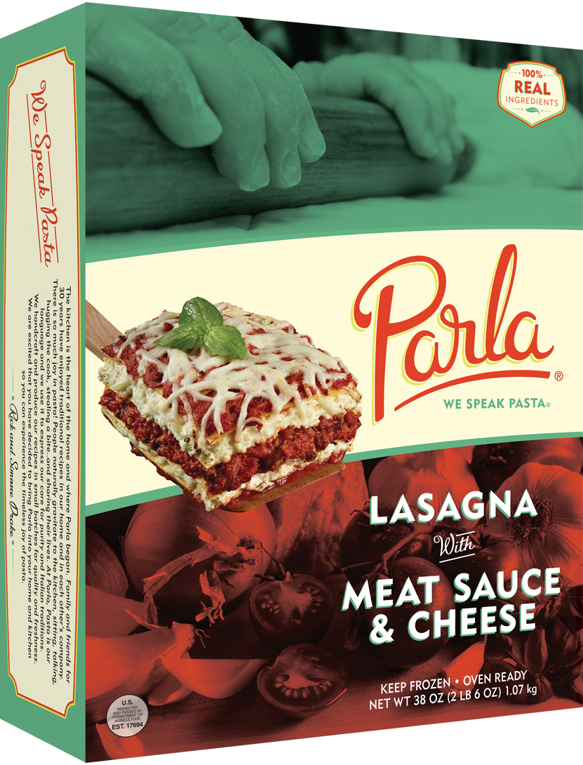 parla Lasagna with Meat Sauce & Cheese product packaging