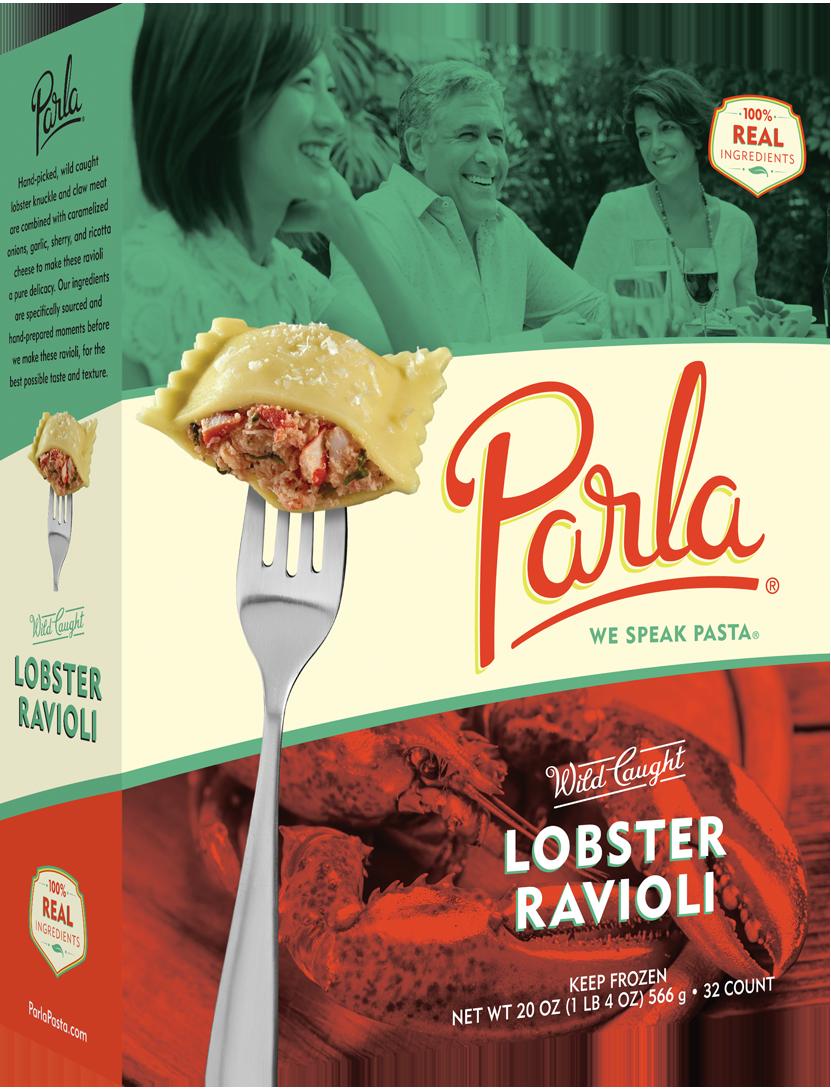 parla Lobster Ravioli product packaging