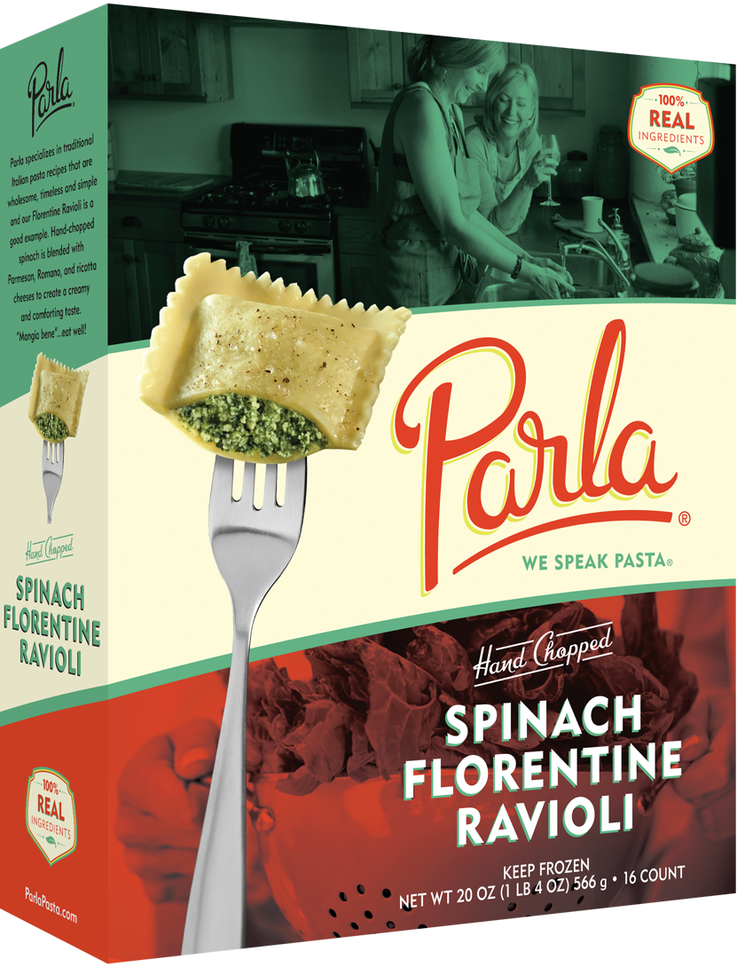 parla Spinach Florentine Ravioli product packaging