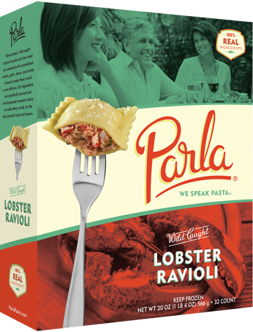 Parla Pasta Wild Caught Lobster Ravioli package