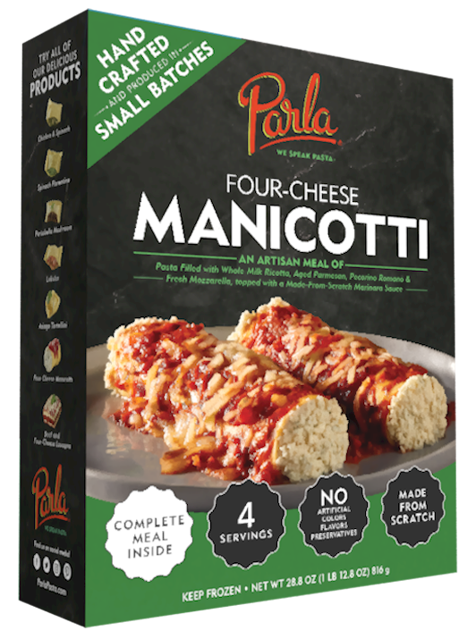 parla Manicotti Family Meal product packaging